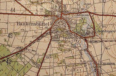 3328 Hankensbüttel, topographische Karte, 1:50.000, gedruckt 1961, ungefaltet !!