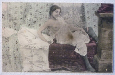 AK POSTKARTE JUNGE BARBUSIGE ARABISCHE SCH NHEIT VOR 1918 CA 9 X 14 CM NUDE