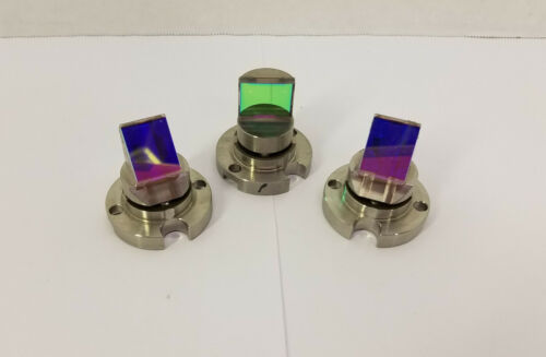 Lot of 3 Small Laser Optical Mounted Mirrors Coated for 532 nm Wavelength