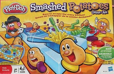 PLAY-DOH:  SMASHED POTATOES RACING GAME!  NEW!
