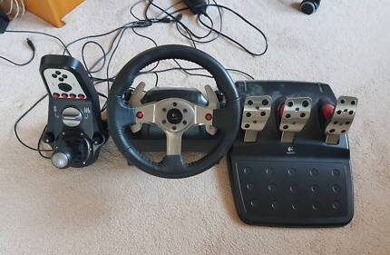 Logitech G25 Racing Wheel + Shifter