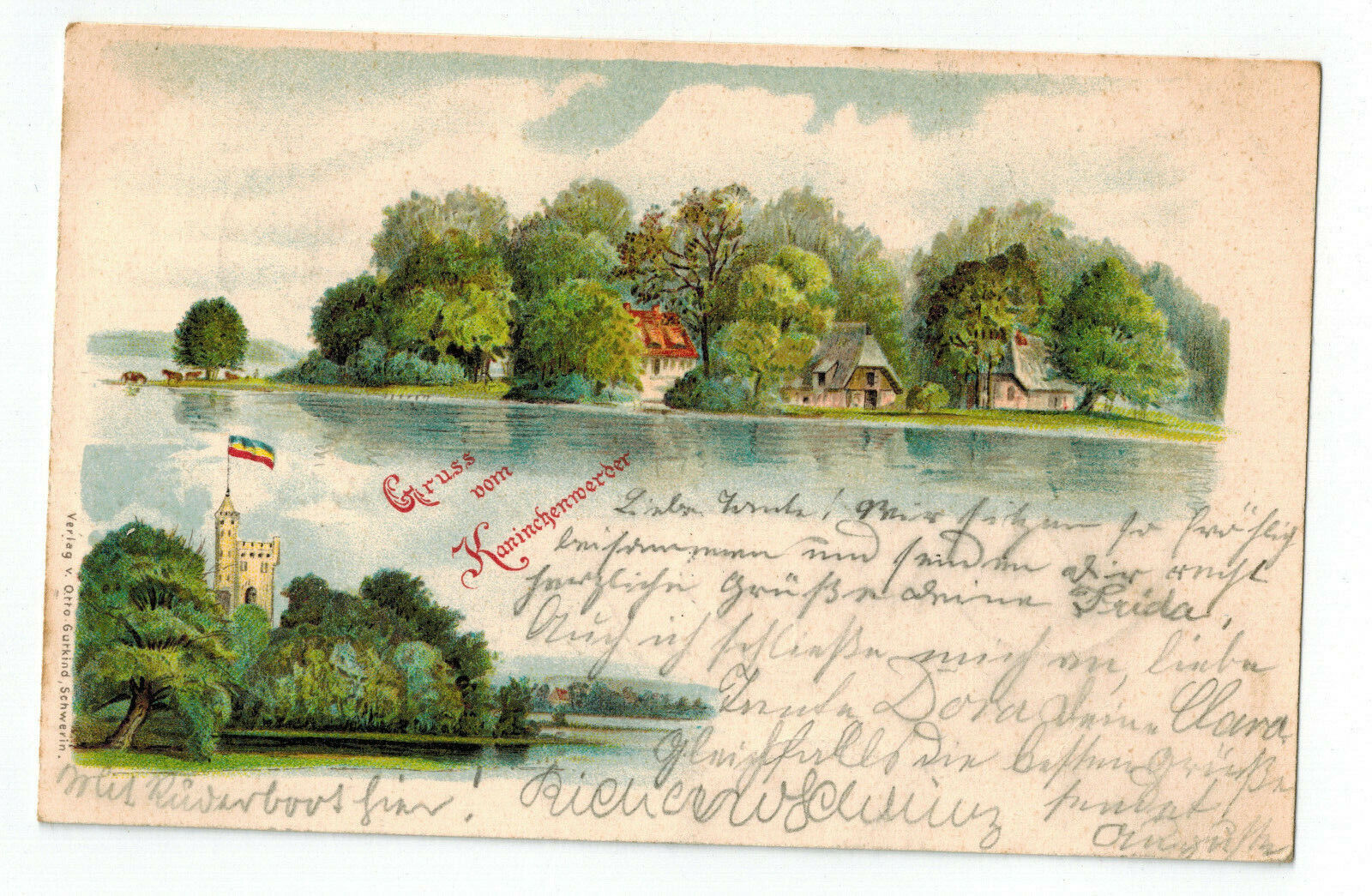 Ansichtskarte, Kaninchenwerder, Schwerin,1900
