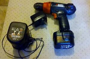 Black & Decker CD12C Type 1 12V Cordless Drill Body Only Petersham Marrickville Area Preview