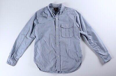Woolrich Woolen Mills Light Blue Oxford Shirt Hunting M Medium USA Light Blue Oxford