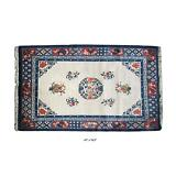 Chinese Handmade Peony Flowers Graphic Rug / Carpet f970