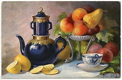 Panier De Fruits (ARTIST SIGNED.PANIER DE FRUITS. BASKET OF FRUITS. JOLIE NATURE MORTE.STILL)