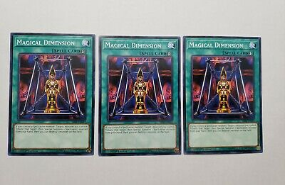 3x Magical Dimension Spell Yugioh Magic Cards The Best And Great Online