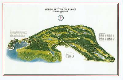 Harbour Town Golf (Harbour Town Golf Links  1969 Dye/Nicklaus-Vintage Golf Course Maps print)