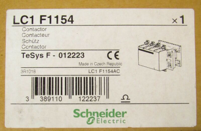 TELEMECANIQUE GROUPE SCHNEIDER LC1 F1154 115A 600V IEC Contactor TESYS F 012223