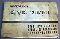 Honda Civic 1200/1500 Libretto Uso E Manutenzione Originale Owner's Manual - honda - ebay.it