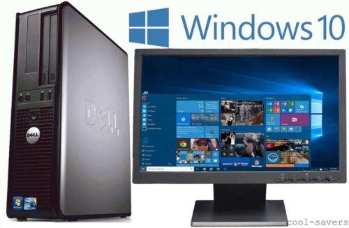 """Dell All-In-One Desktop Computer w/Windows 10 Dual Core 4GB 250GB 19"""" LCD & WiFi"""