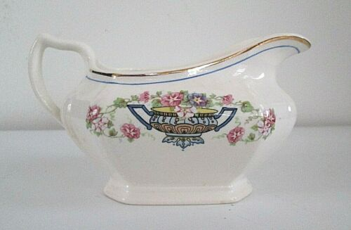 Vintage LIMOGES CHINA CO - Sebring, Ohio - Flowers in Urn CREAMER - Made in USA