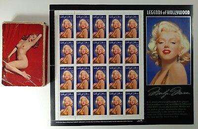 Monroe Deck (1950s MARILYN MONROE DECK OF CARDS & MONROE 1995 MINT STAMP SHEET)