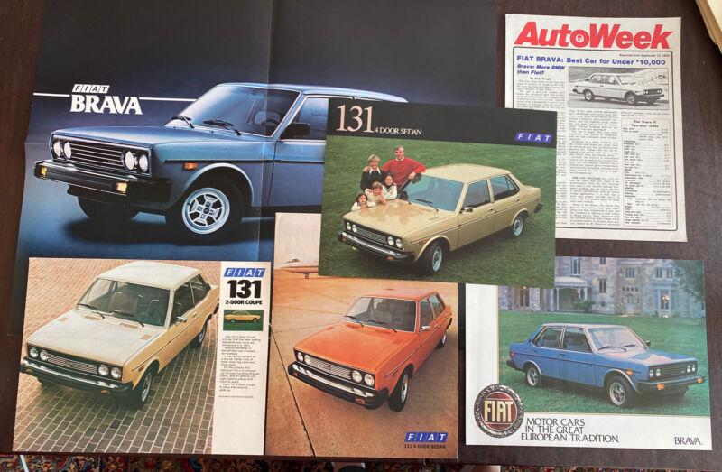 Fiat Brava And 131 6 Piece Set Poster Brochures Ads Original Excellent Condition
