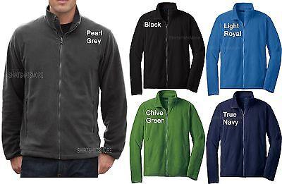 Microfleece Polar Fleece (Mens Polar Micro Fleece Full Zip Jacket with Pockets Winter Warm S-2X 3X 4X NEW! )