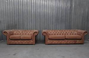 Dublin Exclusive Leather Chesterfield Sofa SET - SALE Epping Whittlesea Area Preview