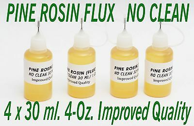 120 Ml. New Needle Tip Bottle Rosin No Clean Soldering Solder Liquid Flux Reflow