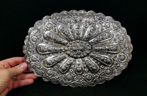 Antique Silver Courting Mirror Turkish - Persian - Indian