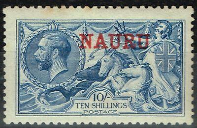 Nauru 1916 10s Pale Blue DLR SG23 Lightly Mtd Mint