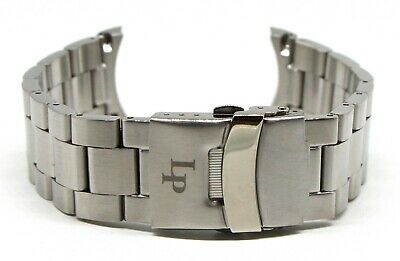 """Lucien Piccard 22MM Stainless Steel Watch Strap 7.5"""" SILVER Fits Avalon Men"""