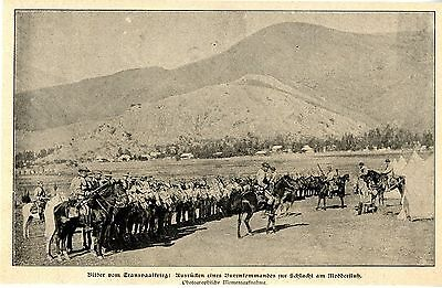Transvaal Ausrücken eines Burenkomandos Schlacht am Modderfluß Bilddokument 1900