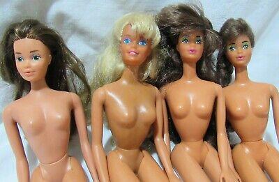 4 Nude 80s 90s Barbie Friends Tracy Brunette 1 Blonde Long Hair Twist Waists Lot