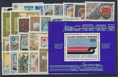 Östereich Jahrgang 1987 postfrisch in den Hauptnummern kompl....................