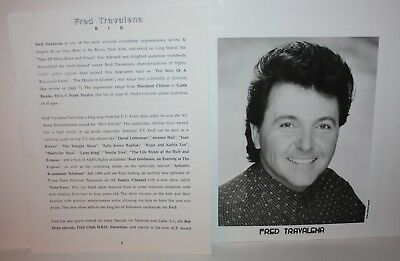FRED TRAVALENA Comedian Talent Agent Issued Photos and Bio 1990's