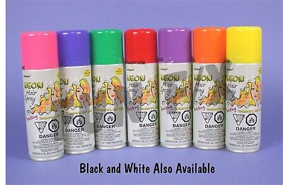 Temporary Colored Hairspray - Choose from 8 Different Colors -Spray In, Wash - Temporary Spray Hair Color