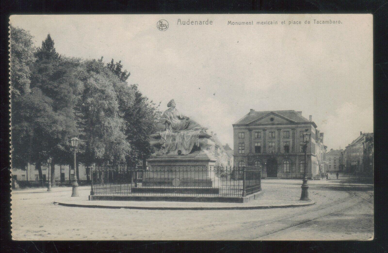 Oude postkaart van Audenarde ,Monument Mexlcain et Place de Tacambaro,,zie foto'