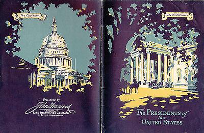 Presidents Of The United States 1931 John Hancock Insurance Booklet