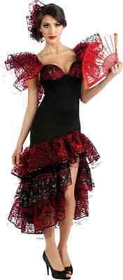 Flamenco Dancer Spanish Salsa Dance Fancy Dress Halloween Sexy Adult Costume