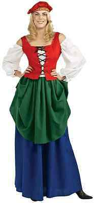 Halloween Costumes Bar Wench (Bar Maid Wench Medieval Renaissance Fancy Dress Halloween Deluxe Adult)