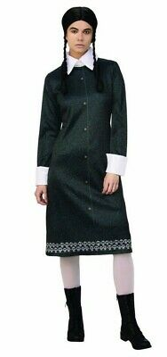 Wednesday Costume Addams Family (Wednesday Addams Adult Womens Large Dress Costume Cosplay The Addams Family)