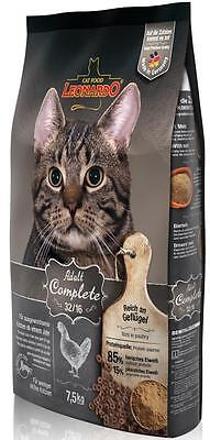 7,5 kg Leonardo Adult Complete 32/16 Katzenfutter + Edelstahlnapf gratis