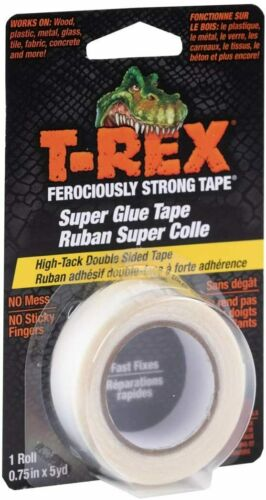 T-Rex Double Sided Super Glue Tape, 0.75 Inches by 5 Yards
