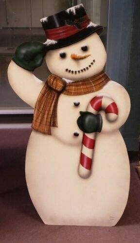Boardwalk Originals Snowman Painted on Wood