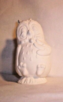 Bisque E393 55.352.1 Ceramic Ready to Paint Yelling Owl Pie Bird