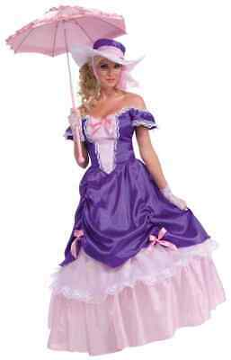 Blossom Southern Belle Gown Purple Pink Fancy Dress Halloween Adult Costume - Southern Belle Dress Halloween Costume