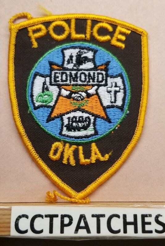 VINTAGE EDMOND, OKLAHOMA POLICE SHOULDER PATCH OK