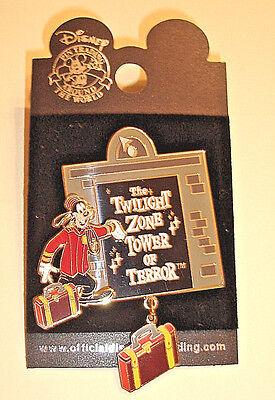 NOC! Disney THE TWILIGHT ZONE TOWER OF TERROR PIN, 3-D Dangle,Goofy Bellhop,2002