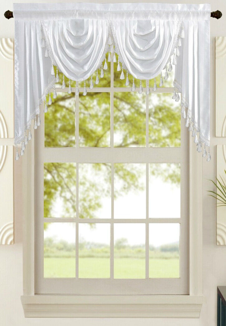 new attached solid faux silk double waterfall