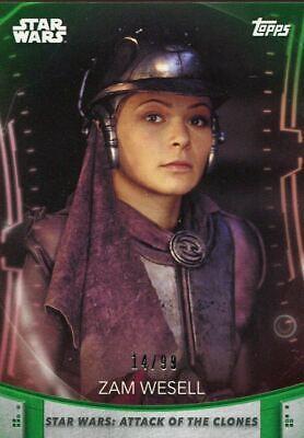 Women Of Star Wars Green [99] Base Card #99 Zam Wesell