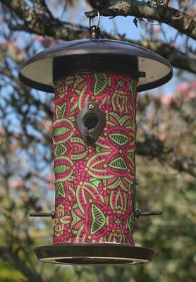 Fuchsia Hanging Art Bird Feeder - Toland - BJ Lantz - SALE ~ SAVE 50%