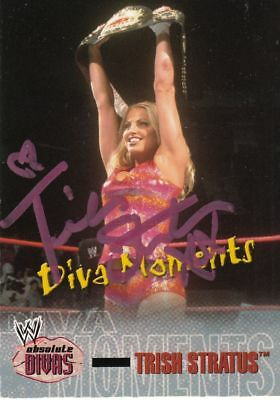 WWE WWF TRISH STRATUS SIGNED TRADING CARD PHOTO PICTURE 8