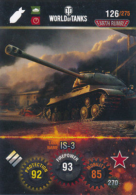 PANINI WORLD OF TANKS TRADING CARDS NR 126 NAME IS 3
