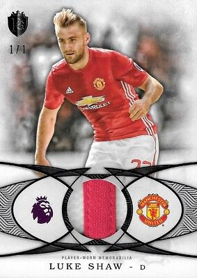 2016 TOPPS PREMIER GOLD Luke Shaw Manchester United Jersey Relic Patch Black 1/1