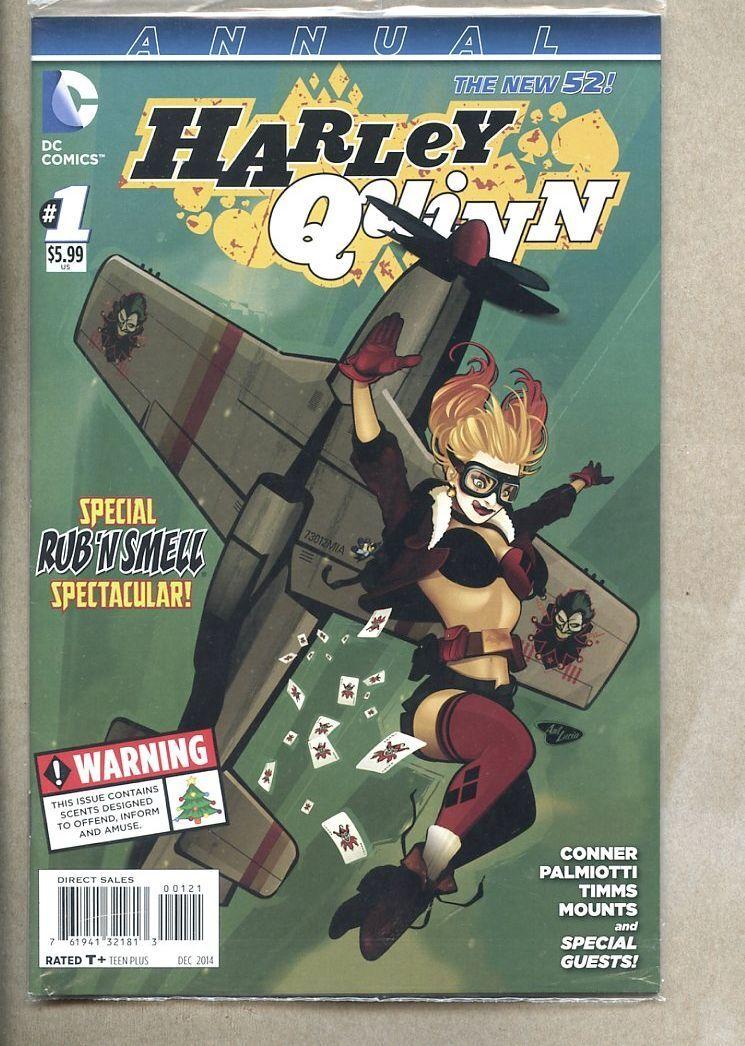 HARLEY QUINN ANNUAL #1 signed bombshell variant ANT LUCIA DC NEW 52 2015 NM COA