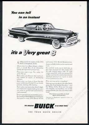 1953 Buick Super coupe car illustrated vintage print ad