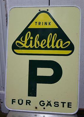 altes Reklameschild Libella Limonade Parkplatz Parkschild